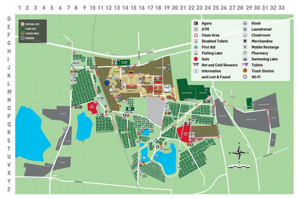 Roskilde Festival Kort 2014 - Oversigtskort