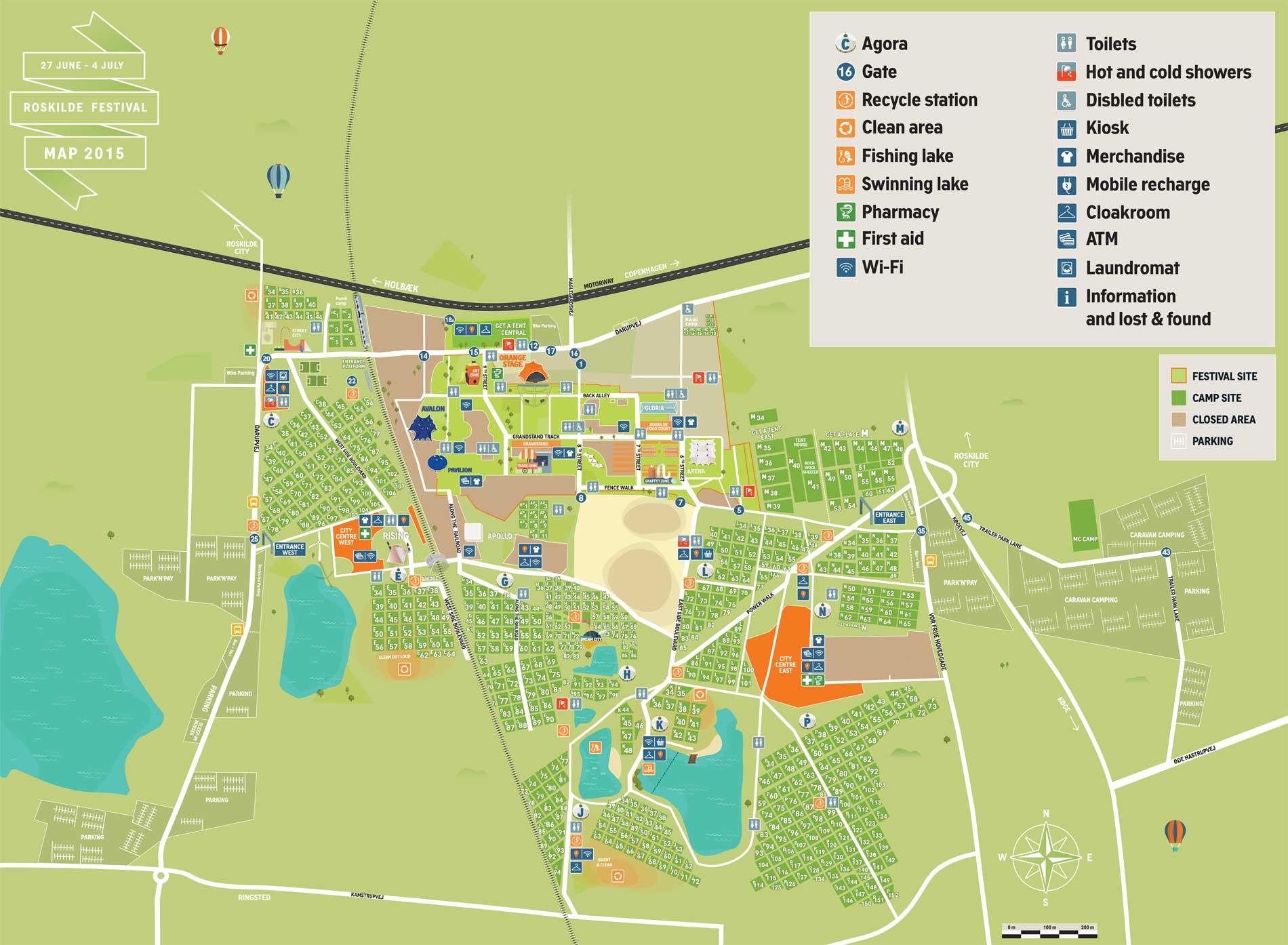 Roskilde Festival Kort 2015 Oversigtskort Roskilde Festival