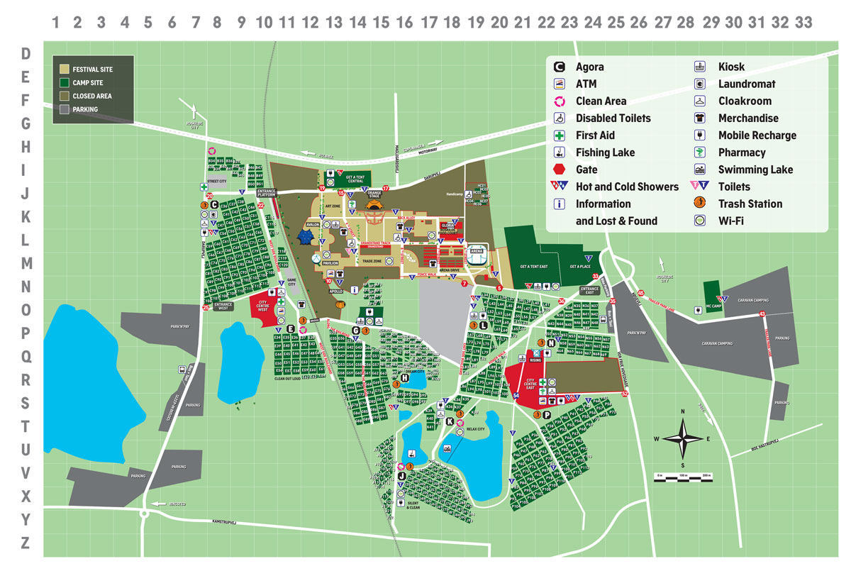 Roskilde Festival Kort 2014 Oversigtskort Roskilde Festival